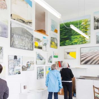 Kerry Harding's studio, Krowji. Photograph by: Kirstin Prisk