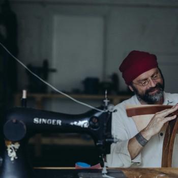 Gavin Jones, St Day Leather, Krowji. Photographed by: Kirstin Prisk