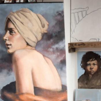 Hannah Wheelers Paintings, Open Studios Cornwall 2016.